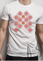 Мъжка тениска с фолклорни мотиви Модел 3FM шевици