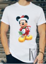 Мъжка тениска с коледни мотиви Модел 1BM