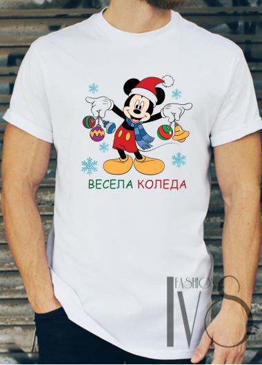 Мъжка тениска с коледни мотиви Модел 11BM