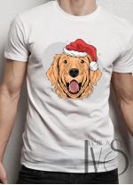 Мъжка тениска с коледни мотиви Модел 18BM