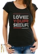 Дамска тениска LOVE YOUR SELF