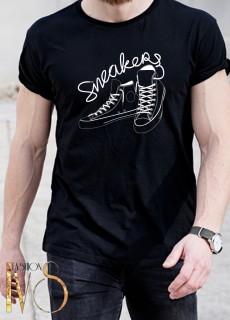 Мъжка тениска черна - SNEAKER