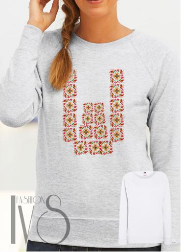 Дамска блуза с фолклорни мотиви Модел 53SF
