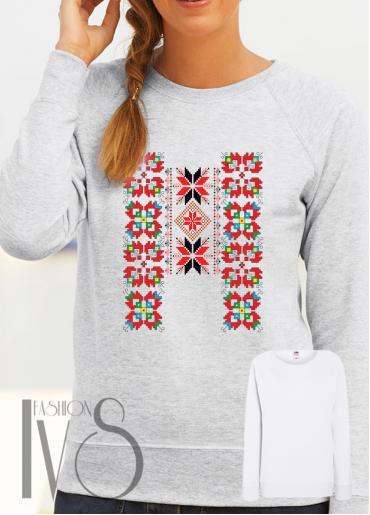 Дамска блуза с фолклорни мотиви Модел 77SF