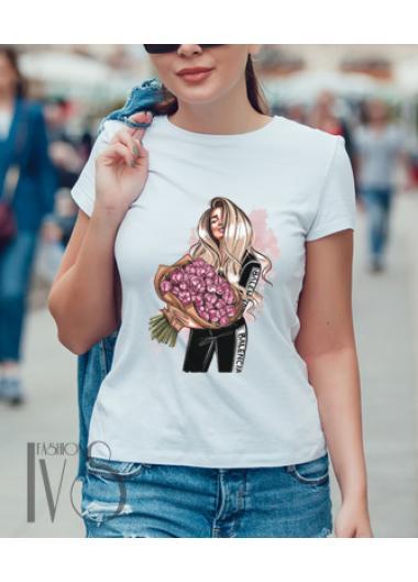 Дамска тениска бяла Модел 672