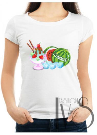 Дамска тениска бяла Модел 674