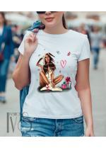 Дамска тениска бяла Модел 673
