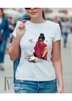 Дамска тениска бяла Модел 675