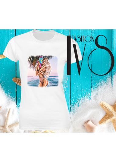 Дамска тениска Модел 672 Summer