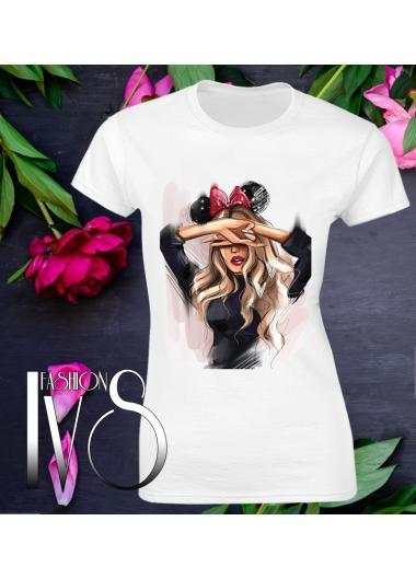 Дамска тениска бялаМодел 621