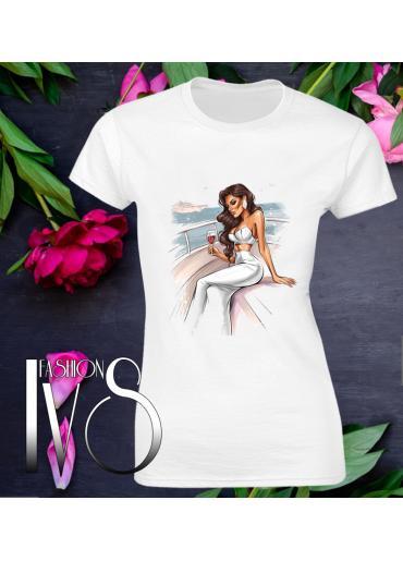 Дамска тениска бялаМодел 622