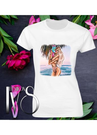 Дамска тениска бялаМодел 624