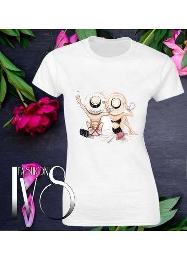Дамска тениска бяла Модел 644